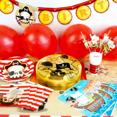 Piraten-Partyset - inkl. Torte