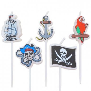 Piraten Tortenkerzen (5 Stück)