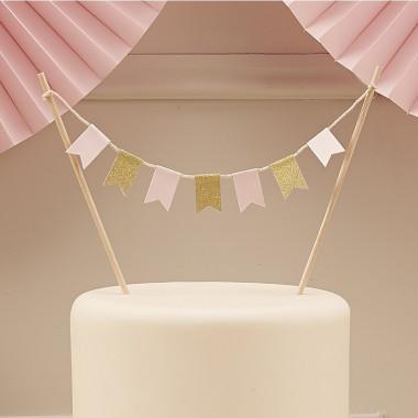 Cake Topper Gold Rosa