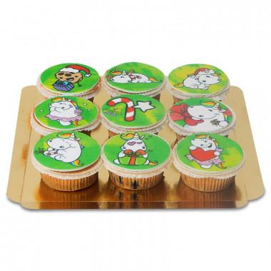Pummeleinhorn Weihnachts-Cupcakes