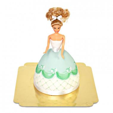 Deluxe Puppenprinzessin-Torte mit grünem Kleid