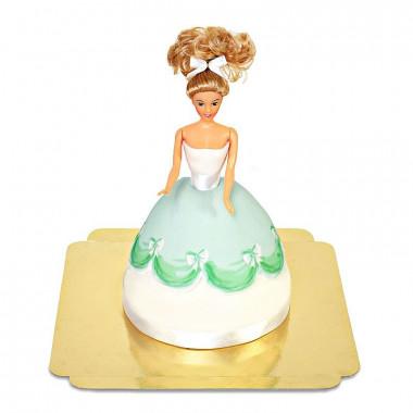 Puppenprinzessin-Torte mit grünem Kleid