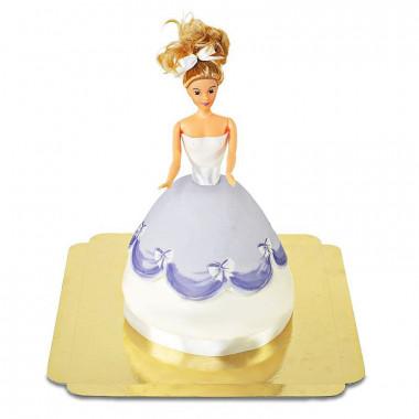 Puppenprinzessin-Torte mit lila Kleid