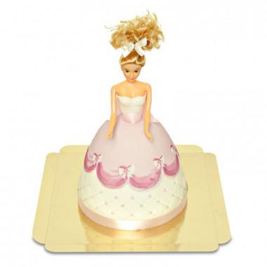 Deluxe Puppenprinzessin-Torte mit rosa Kleid
