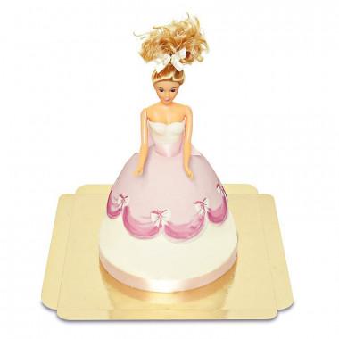 Puppenprinzessin-Torte mit rosa Kleid