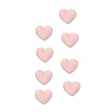 Zuckerherzen Rosa (8 Stück)