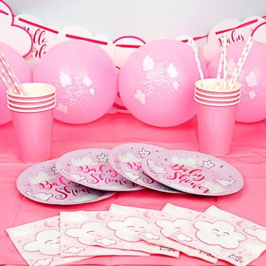 """Partyset """"Babyshower Pink"""""""
