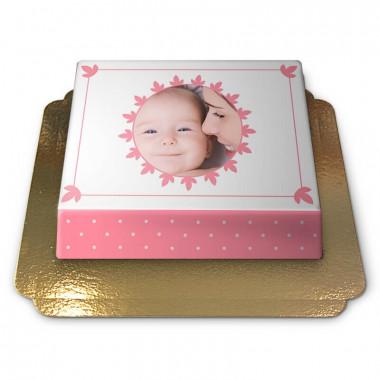Pastell Pinke Foto-Torte