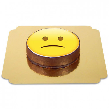 Emoticon Sachertorte Traurig