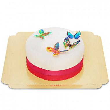 Torte mit Schmetterlings-Oblaten