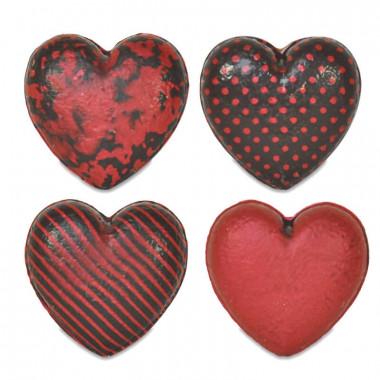Herzen aus Schokolade (4 Stück)