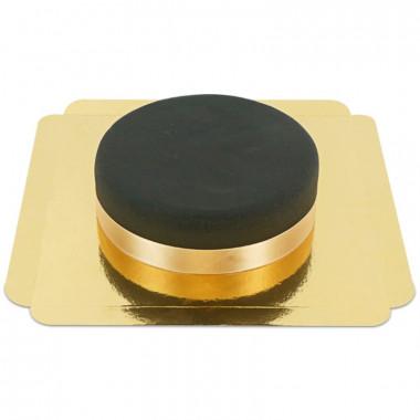 Schwarze Torte mit Tortenband