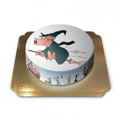Halloween Hexen-Schwein Torte