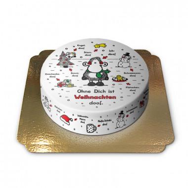 Sheepworld - Ohne dich ist Weihnachten doof - Torte