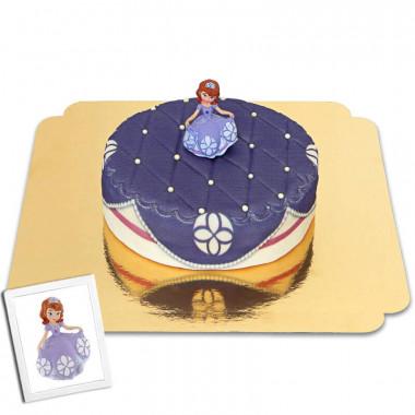 Prinzessin Sofia die Erste auf Kissen-Muster-Torte