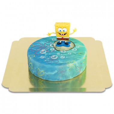 Spongebob auf runder Unterwasser-Torte