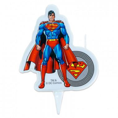 Superman-Tortenkerze