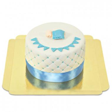 Blaue Baby-Party Torte