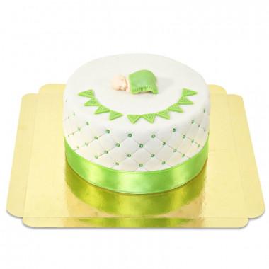 Grüne Baby-Party Torte