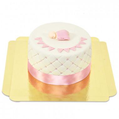 Pinke Baby-Party Torte