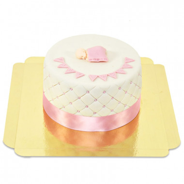 Pinke Baby-Party Torte