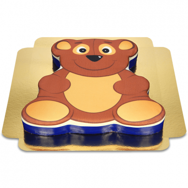Teddybär-Torte in Bären-Form