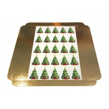 Törtchenaufleger - Weihnachtsbäume 5x5cm