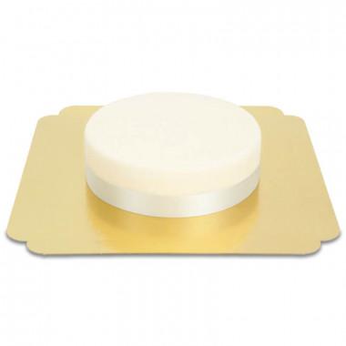 Schmales Tortenband, Silber
