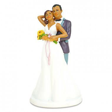 Tortenfigur - Liebendes Brautpaar