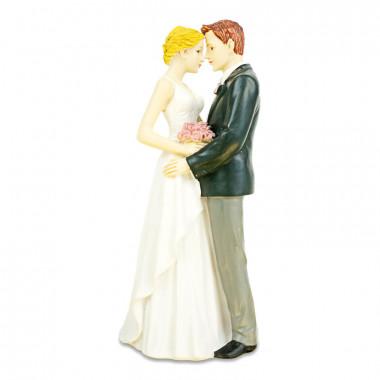 Tortenfigur - Umarmendes Brautpaar