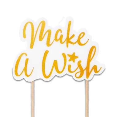 Tortenkerze, Make a wish Gold