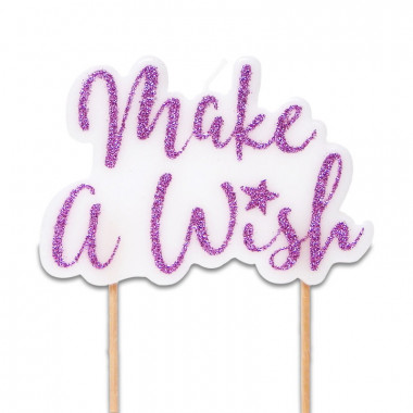 Tortenkerze, Make a wish Rosa