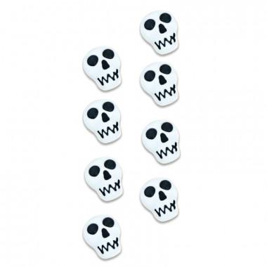 Totenkopf Zuckerdekoration (8 Stück)