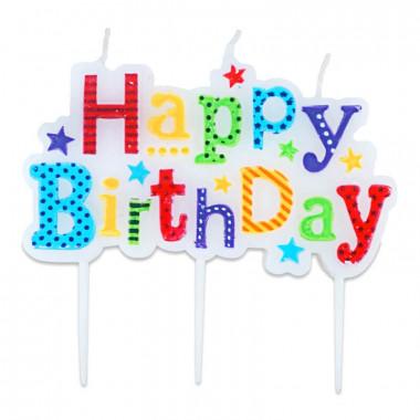 Lustige Happy Birthday Tortenkerze
