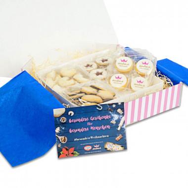 Weihnachtskekse-Set inkl. Fotokekse und Weihnachtskarte