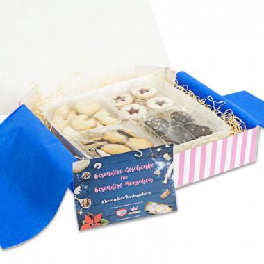 Weihnachtskekse-Set mit Weihnachtskarte