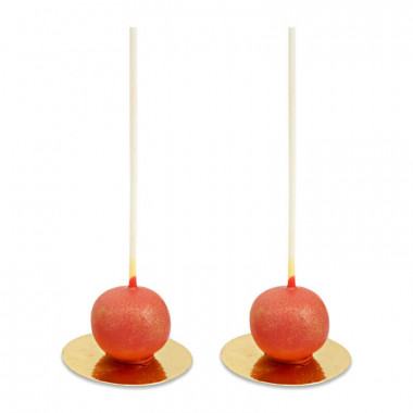 Valentinstags-Deluxe-Cake-Pops Rot (10 Stück)