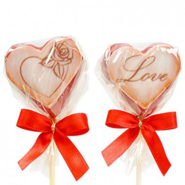 Valentinstags-Herz-Cake-Pops Rot (12 Stück)
