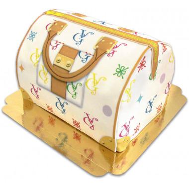 Handtaschen-Torte VG, weiß mit bunten Details