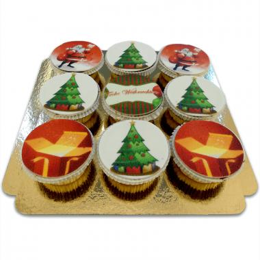 Weihnachts-Cupcakes, 9 Stück