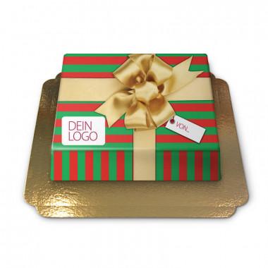 Weihnachtsgeschenktorte
