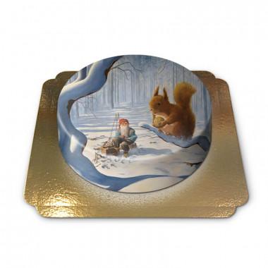 Weihnachtswichtel mit Eichhörnchen - Jan Bergerlind