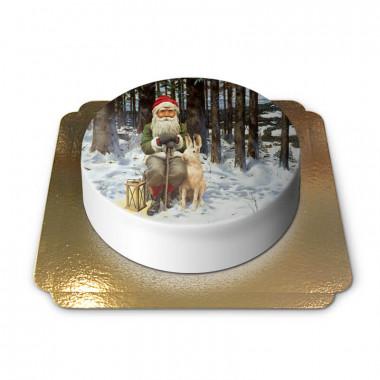 Weihnachtswichtel mit Schneehase - Jan Bergerlind