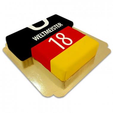 Fußballtrikot-Torte, Deutschland-Fahne
