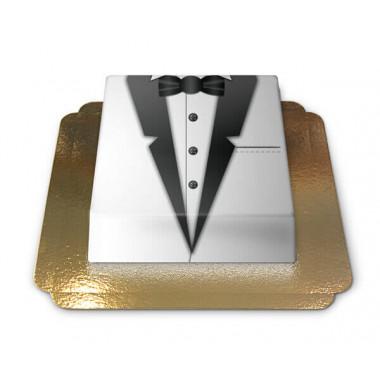 Bräutigam Torte schwarz-weißer Smoking