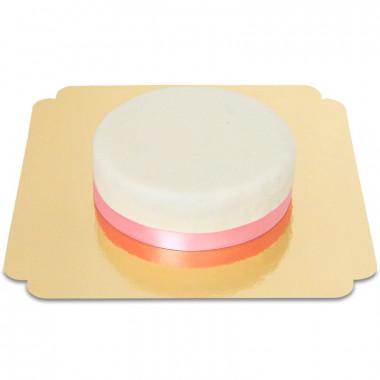 Weiße Torte mit Tortenband