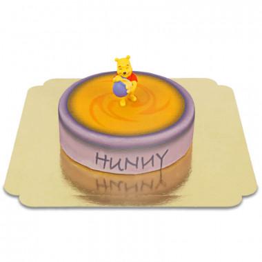 Winnie Puuh auf Honigtopf-Torte