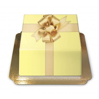 Geschenk-Torte gelb