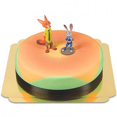 Zoomania - Judy & Nick auf Torte mit Band