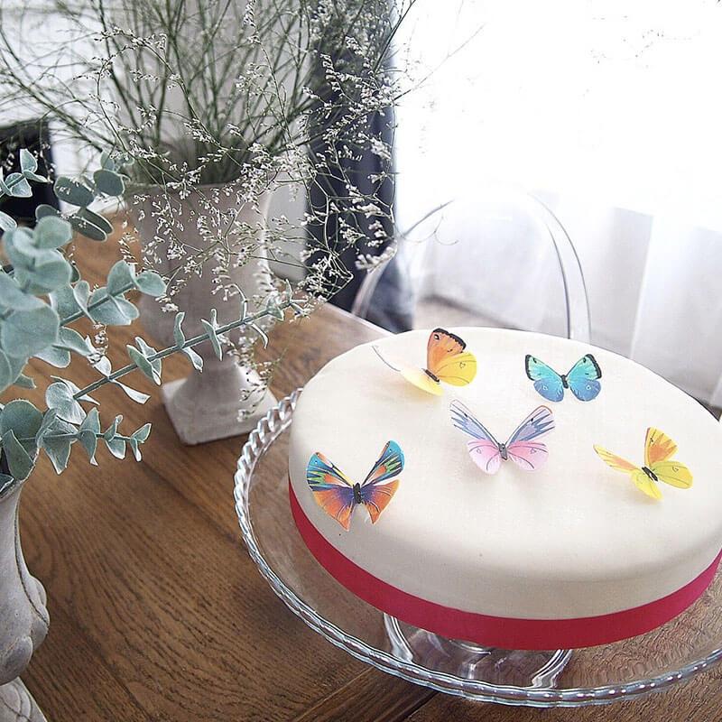 Gâteau avec papillons en relief